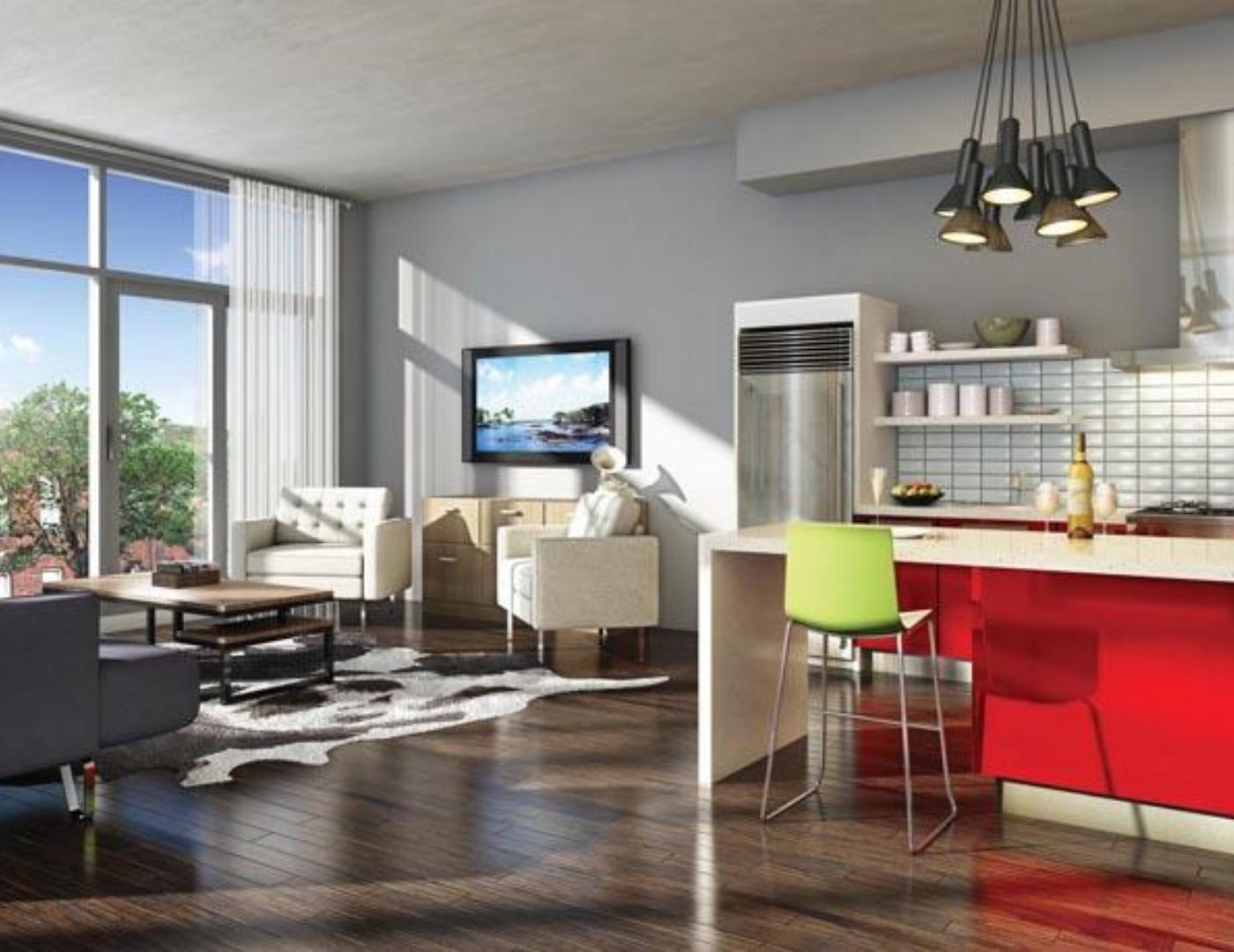 Motif Lofts and Towns Livingroom at 41 Ossington Avenue