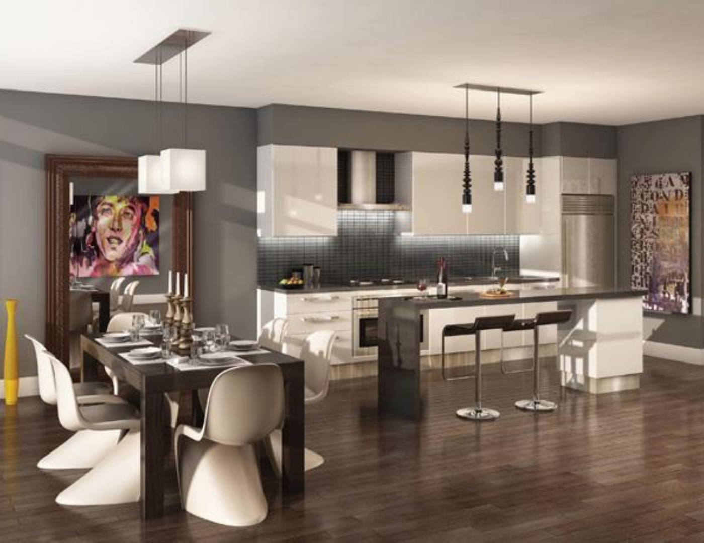 Motif Lofts and Towns Kitchen at 41 Ossington Ave